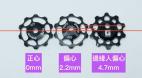 邊緣人偏心導輪(偏移4.7mm)