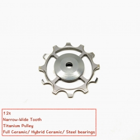 Narrow wide tooth Pulley Made of titanium